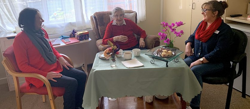 Aberlea Mortlake resident Betty Vale with daughters Julie Giacoppo (left) and Penny Timmins (right) enjoyed a special catch up for Mother's Day on Sunday.