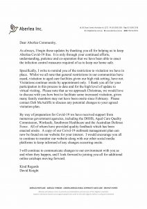 Stake Holders Letter 1.10.20